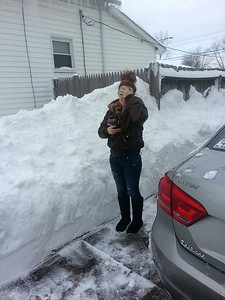 Jacque Dunn shared this photo of the snow piled up on Louisiana Avenue in Lorain.