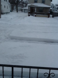Carolyn Moore took this of her driveway on 32nd Street in South Lorain.