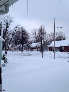 Rachel Griffith sent this photo from the neighborhood near Elyria Catholic.