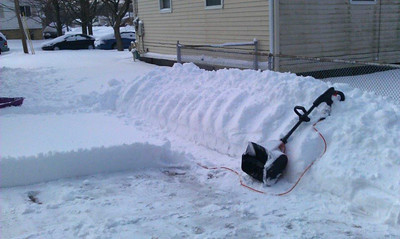 Patti Joseph Stiteler snapped this photo while clearing her driveway on Sandalwood.