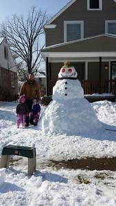 This snowman on Fairlawn Avenue is taller than Twitter user @zipkicker.