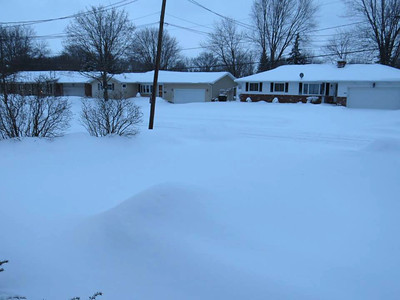 Becky Spencer Kovacs took this photo before shoveling the driveway at her Stafford Drive home.