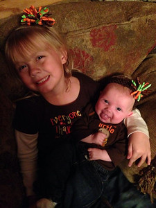 """I'm thankful for my two healthy, beautiful little girls, Addison, 5, and Emerson, 3 months. Life is complete this holiday season with my perfect family!"" - Nikki Beal of Amherst"