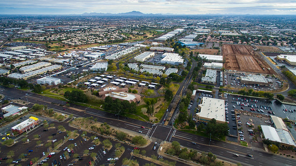 Aerial of Industrial Park, Chandler, AZ