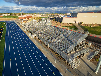 Product photography, stadium bleachers, track field, Gilbert, AZ