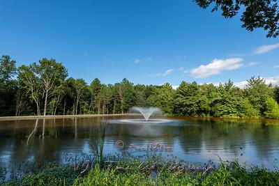 Christenbury Hall Pond and Fountain