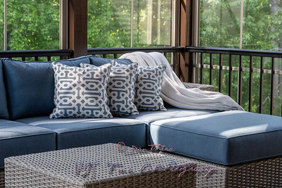 Close Up of Patio Furniture on a Sunny Day