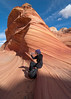 Erin at The Wave, North Coyote Buttes, AZ - November 2011