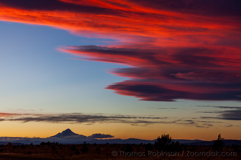 Vibrant Sunset with Mt. Hood