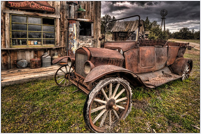 Last Fill-up, Old cars, Oregon, Artistic, HDR, Fine Art