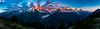 Mont Blanc Sunset Panorama