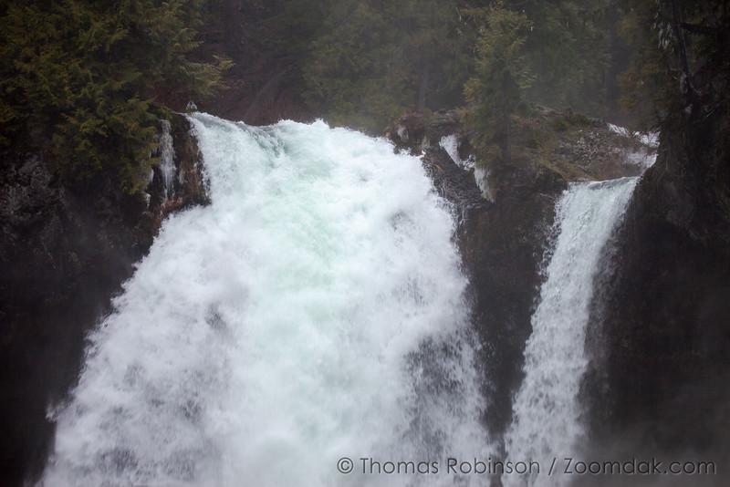 Water Charging Over Sahalie Falls