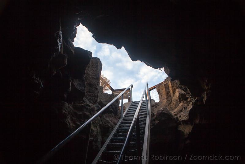 Boyd Cave Entrance in Bend, Oregon