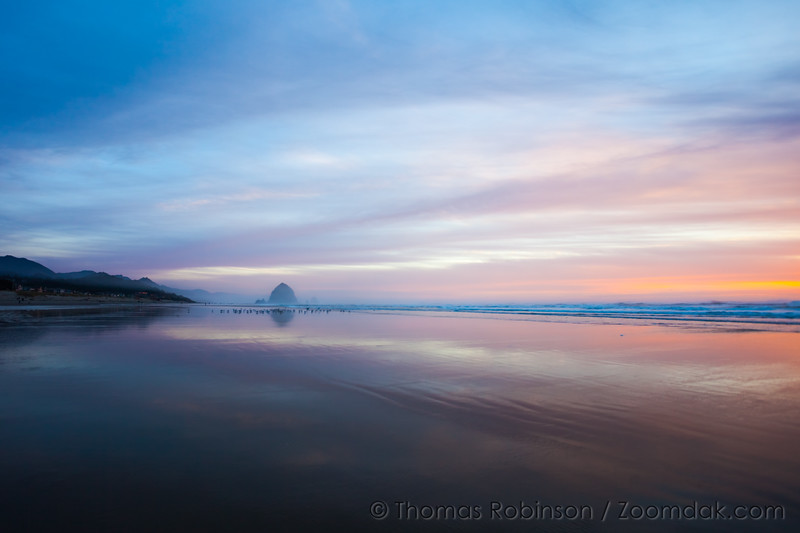 Wide Angle Cannon Beach Sunset