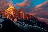 Alpen Glow on Aiguille Verte and Aiguille du Dru