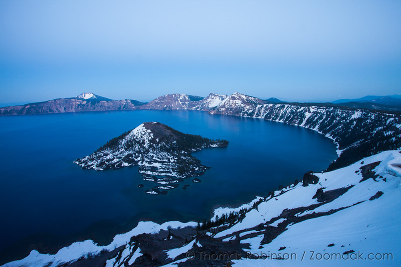 Twilight at Crater Lake, Oregon