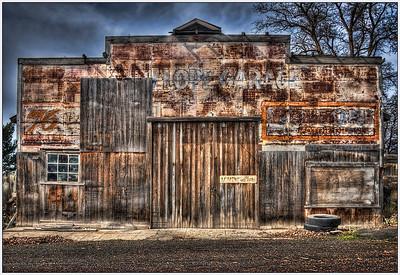 Antelope Garage, Artistic, HDR, Oregon