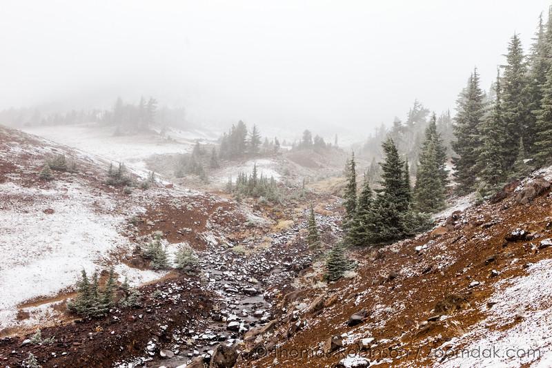 Snowscape at Broken Top