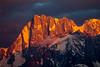 Grand Jorasses Alpenglow