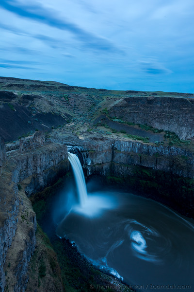 Palouse Falls Late Evening, Vertical