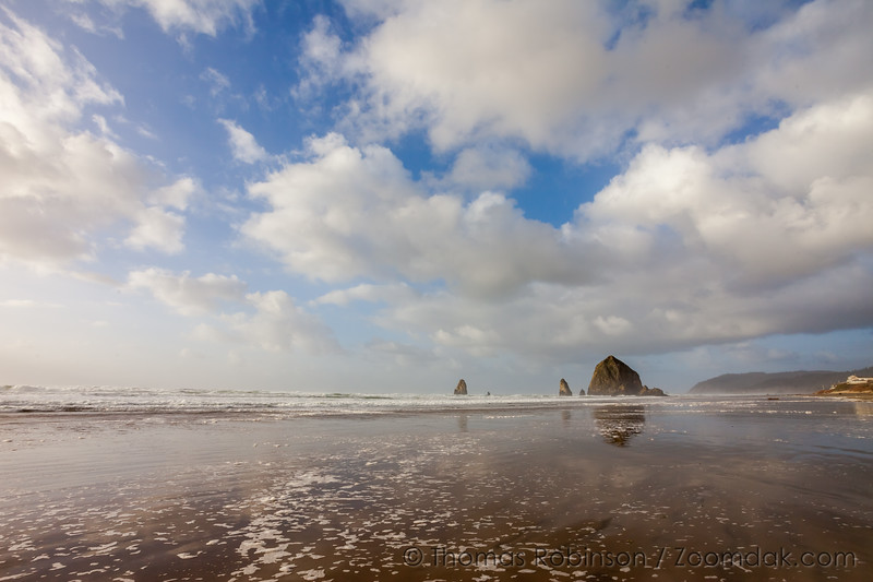 Puffy Clouds in Cannon Beach