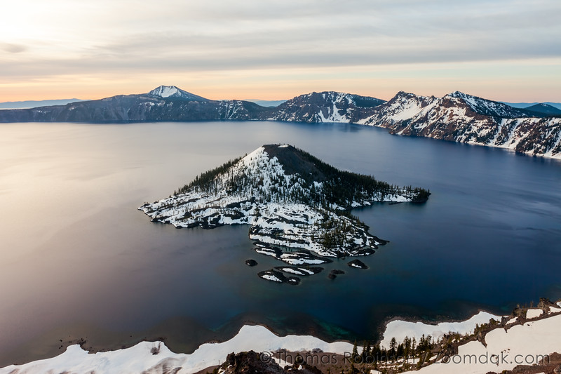 Crater Lake Sunrise Colors