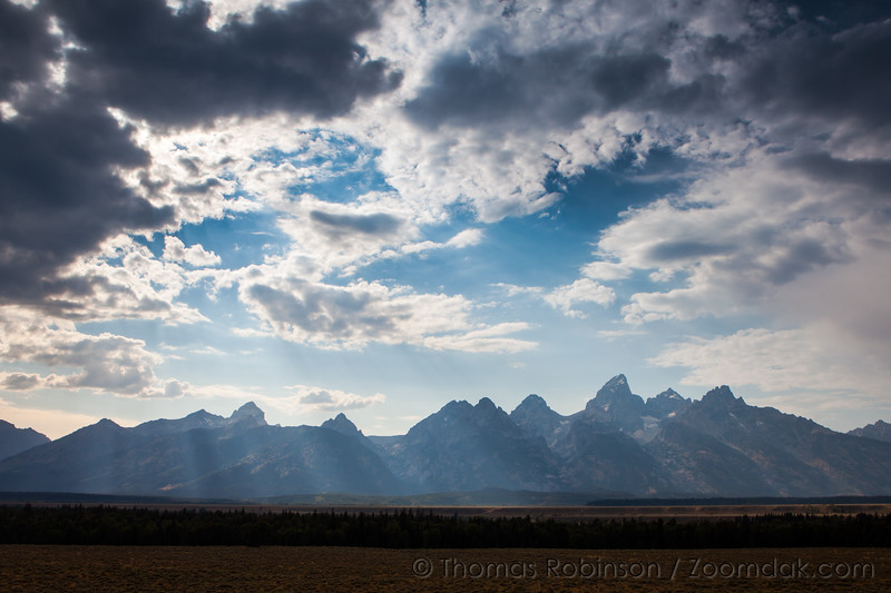 Grand Tetons Light Beams
