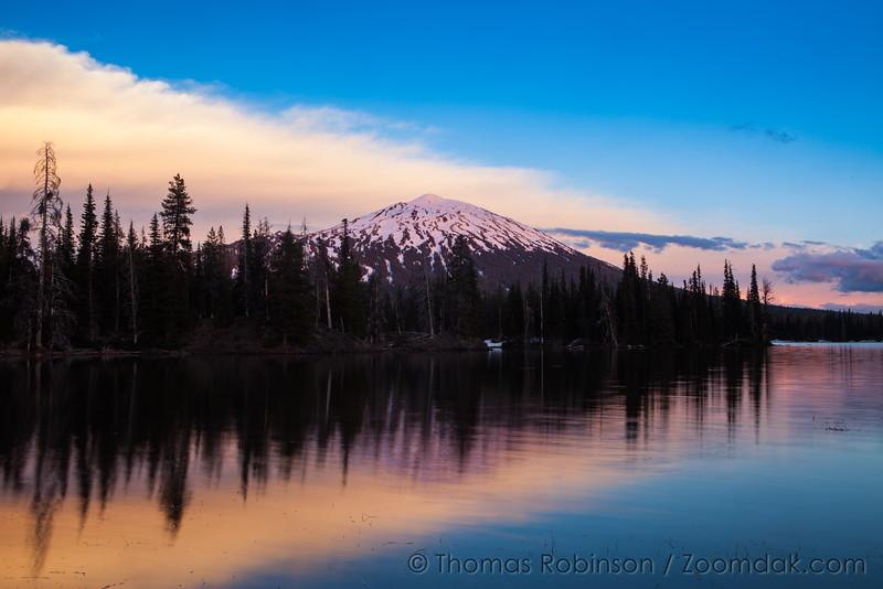 Mt. Bachelor Reflecting Alpenglow