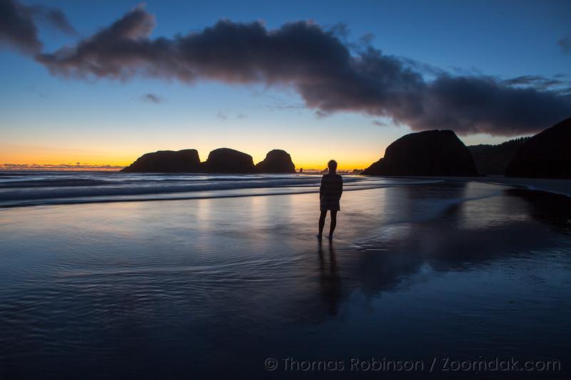 Summer Seastacks Silhouette