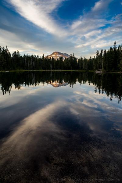 Sisters Mirror Lakes Vertical