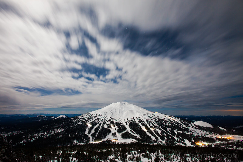 Mt. Bachelor by Night