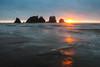 Shi Shi Beach at Sunset