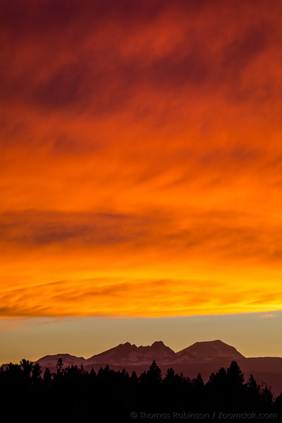 Fiery Clouds Above the Mountains