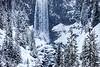 Snow at Tumalo Falls