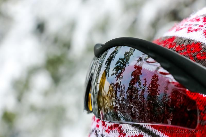 Sunglasses Snow Reflection