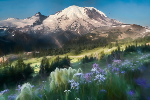 Mount Rainier from Sourdough Ridge