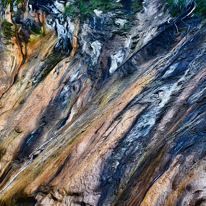 Ochre Painted Cliff
