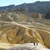 Badlands in Death Valley, California.