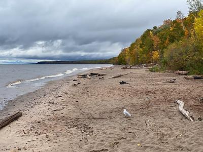 The beach at Black River Recreation Area MI.