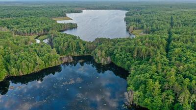 Bush Lake top, Northeast Lake bottom