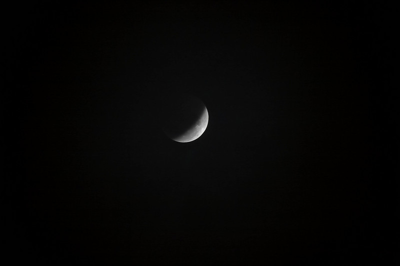 Another shot of the moon as the eclipse passes.