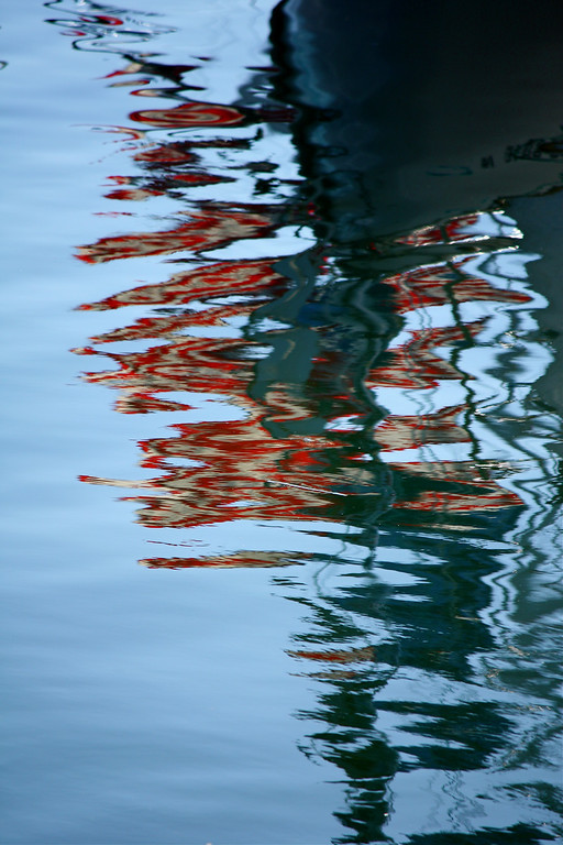Reflection of Bow and Flags