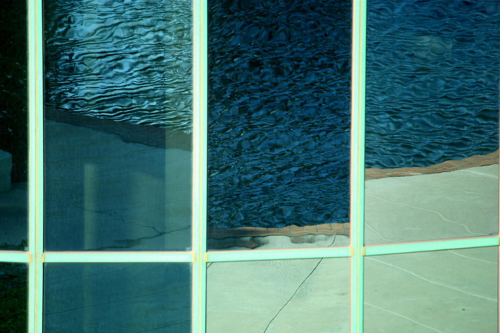 Reflection of Lake Water in Hotel Windows