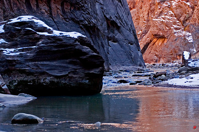 """Agua Fria"", Virgin River, Zion National Park, Ut., 01/13/08"