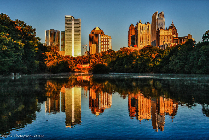 Lake Clara Meer at Piedmont Park in Atlanta GA. This photo received an Approvers Choice on Weather Underground.