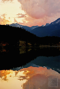 """The Morning Mirror"", Green Lake, Whistler, B.C."