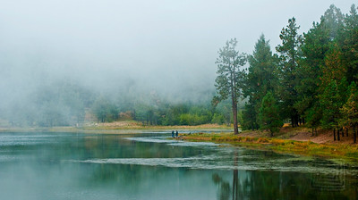 """Fogged In"", Riggs Flat Lake, Mt. Graham, Arizona"