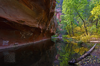 """Autumn Reflections"", West Fork Park, Sedona, Az., 10/31/10"