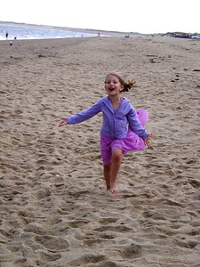 I can't resist the carefree attitude my daughter displayed here.  We were on the Cape.