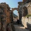 Arch with Figure-Ephesus Ruins-Kusadasi, Turkey